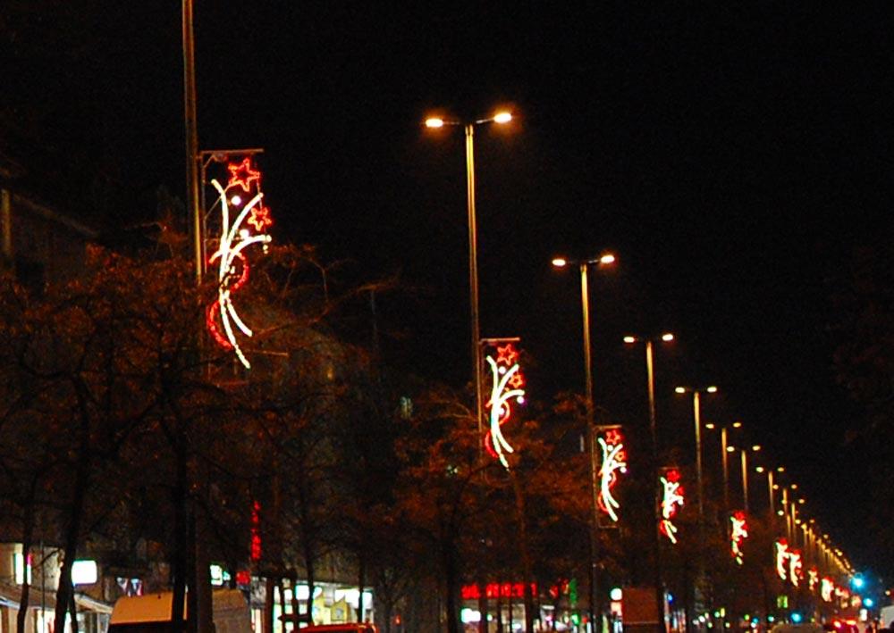 Weihnachtsbeleuchtung in der Residenzstraße