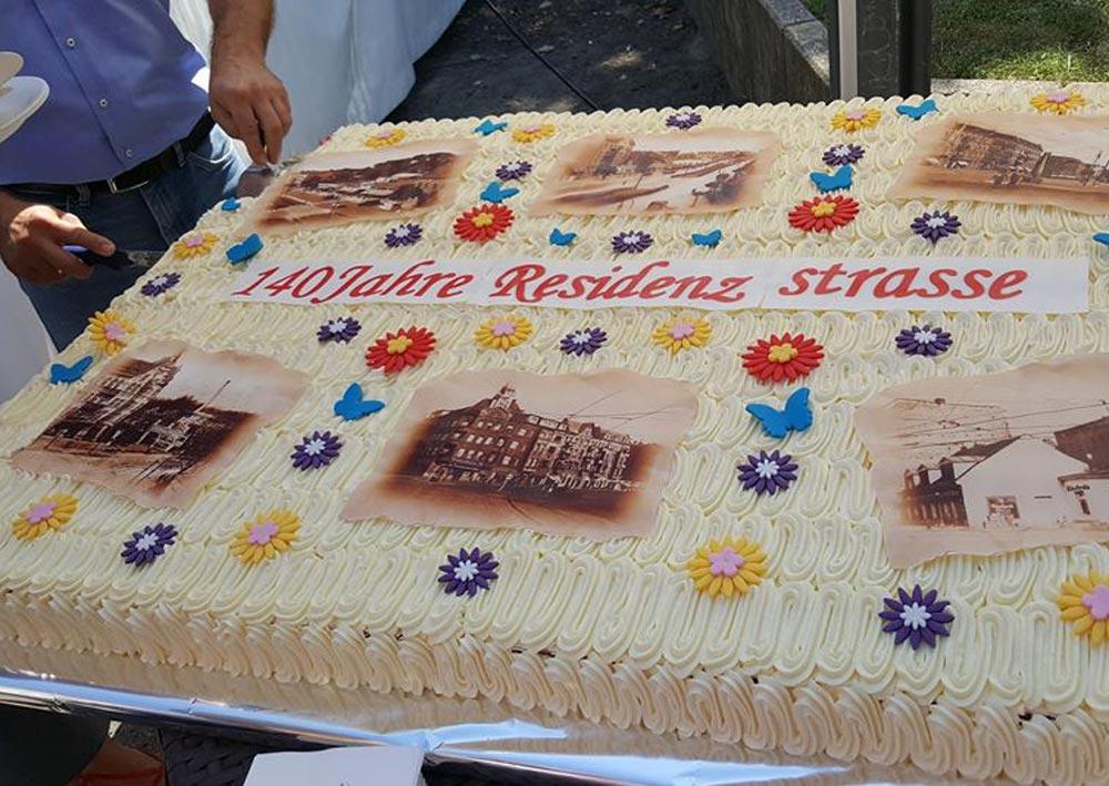 Torte für 140 Jahre Residenzstraße